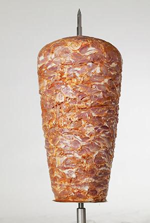 Drehspieß aus Putenfleisch