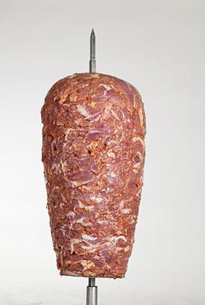 Drehspieß aus Kalbfleisch