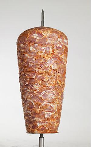 Drehspieß aus Hähnchenfleisch