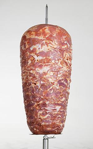 Drehspieß aus Kalb und Putenfleisch